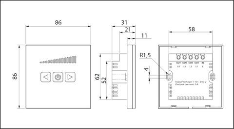 Сенсорный регулятор скорости Вентс СРС-1