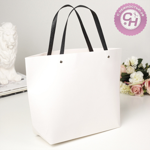 Пакет крафт-сумка с ручками, 41 х 28 х 12 см, 1 шт.