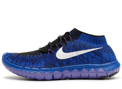 Кроссовки Женские Nike Free Run 3.0 Flyknit Blue Black White