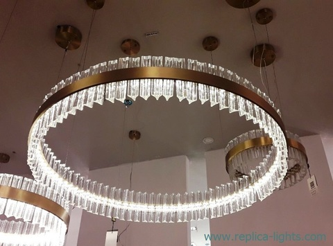 replica Saturno LED Pendant by Baroncelli 70 cm