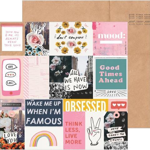 Лист двусторонней бумаги 30х30 см -All Heart от Crate Paper -1л