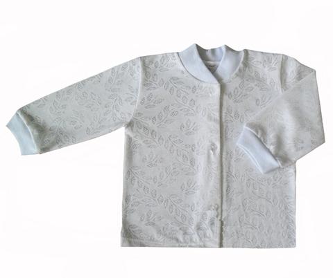Кофточка ясельная из ажурного трикотажа белая