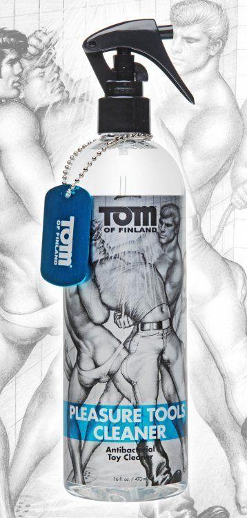 Интимная гигиена: Антибактериальный спрей Tom of Finland Pleasure Tools Cleaner - 473 мл.