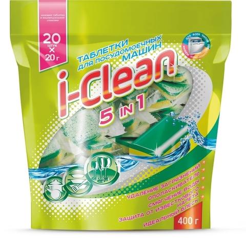 Фабрика Ромакс i-Clean Таблетки для посудомоечных машин 5 в 1 20шт. 400г