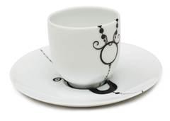 Кофейная чашка с блюдцем Ben edict 80 мл AR00074