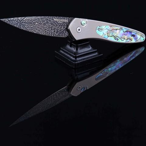 Автоматический нож Pro-Tech модель Custom Newport Abalon