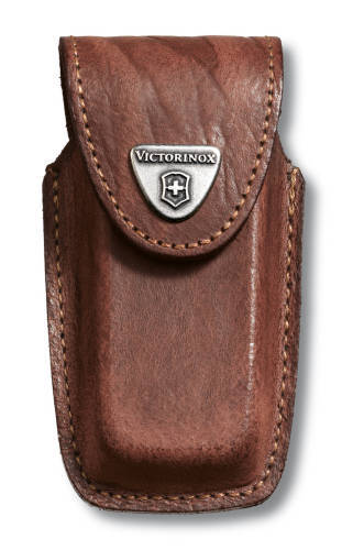 Чехол кожаный коричневый для Swiss Army Knives or EcoLine 91 мм, толщина ножа 5-8 уровней