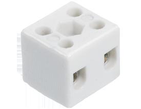 Высокотемпературная керамическая клемма 2 х 4,0 мм², с крепежным отверстием