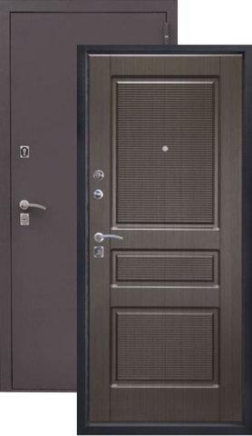 Дверь входная Алмаз Аметист, 2 замка, 1,5 мм  металл, (чёрный шёлк+венге)