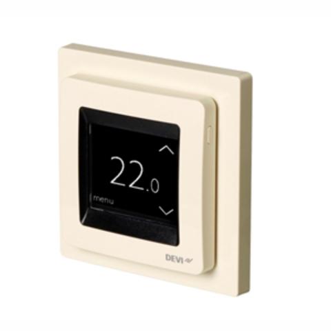 Терморегулятор для теплого пола. Терморегулятор DEVIreg™ Touch c комбинацией датчиков, бежевый. 16А. 140F1078