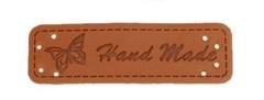 Нашивки Hand Made 1,5х5 беж, кожа