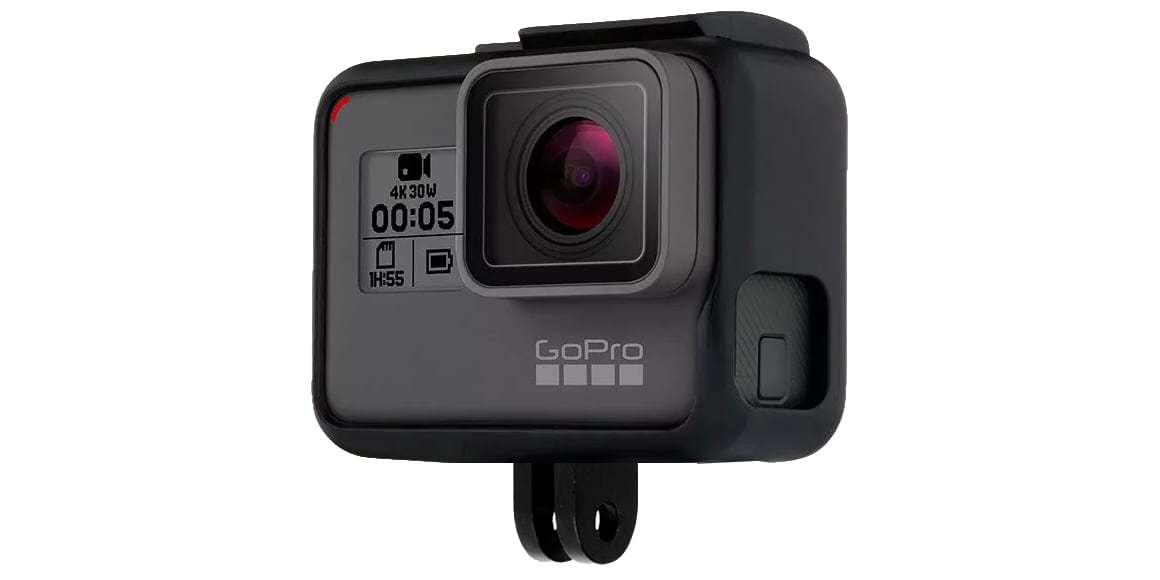 Крепление-рамка GoPro The Frame с камерой сбоку