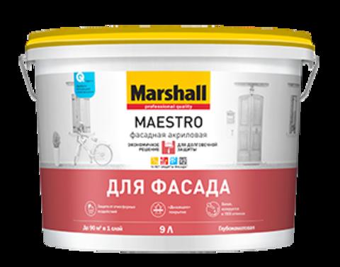 Marshall Maestro Фасадная Краска на водной основе для минеральных фасадов