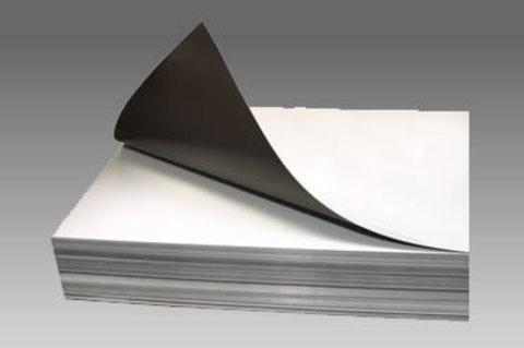 Магнитный лист с клеем толщиной 0.5 мм размер А4