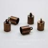 Концевик для шнура 5,5 мм, 10х6 мм (цвет - античная медь), 2 штуки