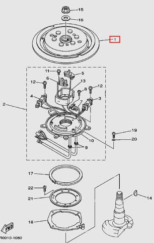 Маховик без венца для лодочного мотора Т30 Sea-PRO (8-1)