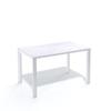 Стол Kenner LE1400 кухонный, раздвижной, белый - сосна белая