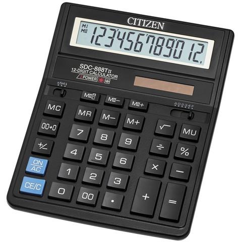 Калькулятор настольный CITIZEN бухг. SDC-888TII 12 разряд. Dual Power