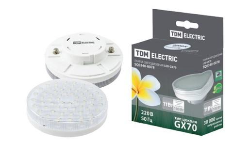 Лампа светодиодная GX53-9 Вт-3000 К TDM