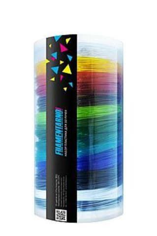 3D PENS Подарочный набор прозрачного пластика для 3D-ручек (15 цветов по 10 м)