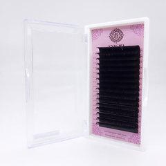 Ресницы черные Enigma, изгиб D+ (16 линий)