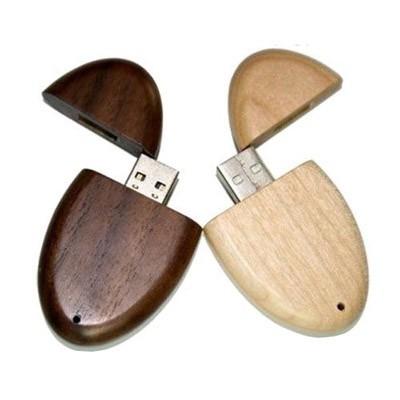 usb-флешка деревянная овальная оптом