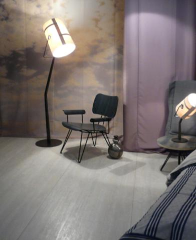 replica  Diesel Fork Floor  lamp ( marrone + grey )