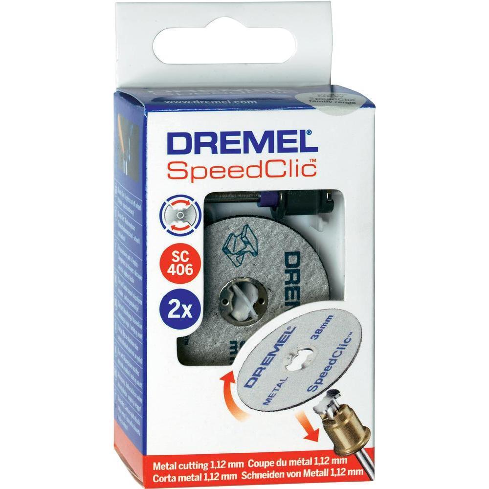Комплект отрезных кругов 2шт с держателем SpeedClic SC406 Dremel 2615S406JC