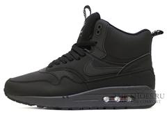 Кроссовки Мужские Nike Air Max 87 MID All Black ( c Мехом)