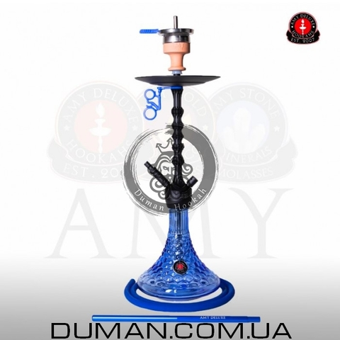 Кальян AMY Deluxe 072.01 Alu Antique Berry PSMBK-BU  Blue Mate