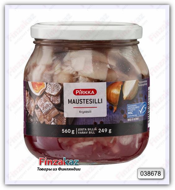 Сельдь Pirkka Maustesilli ( с душистым перцем) 560/250 гр
