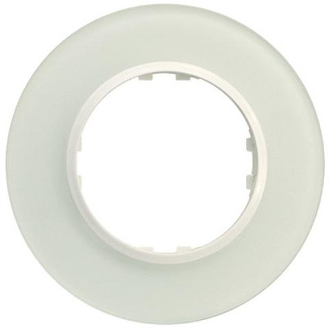 Рамка на 1 пост круглая из натурального стекла. Цвет Светлое стекло. LK Studio Vintage (ЛК Студио Винтаж). 889111-1