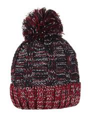 HT1804-1 шапка женская, черно-красная