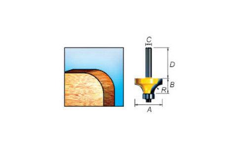 Фреза кромочная калевочная 35х25,4х32/8 мм, R=6 мм