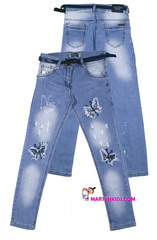 719 джинсы бабочка блеск