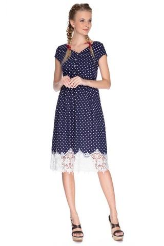 Платье для беременных и кормящих 07572 синий