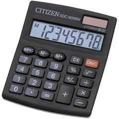 Калькулятор настольный CITIZEN бухг. SDC805BN 8 разрядов DP