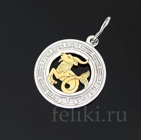 серебряный кулон знак Зодиака Козерог