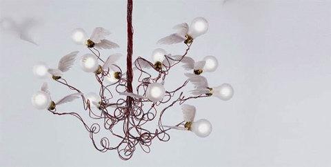 replica  Ingo Maurer Birdie's Nest ( 16 birds )