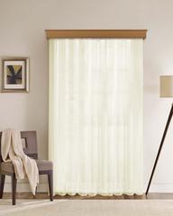Длинные шторы. Тюль вуаль Classic Voile (сливочный)