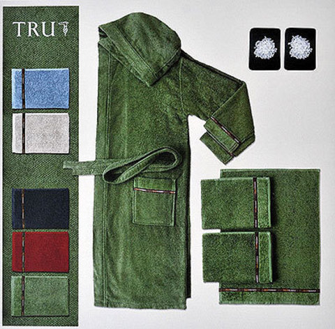 Набор полотенец 2 шт Trussardi Picky зеленый