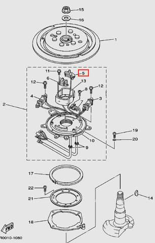 Катушка импульсная для лодочного мотора Т30 Sea-PRO (8-5)