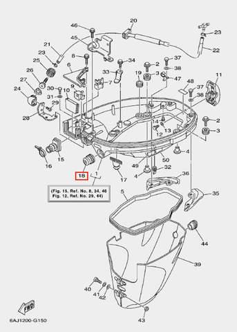 Втулка вала 1 для лодочного мотора F20 Sea-PRO (15-18)