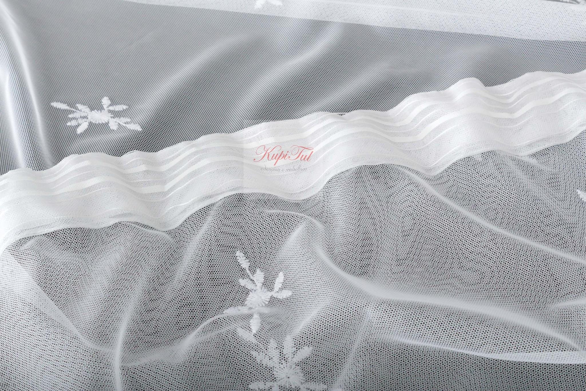 Тюль Амели-2 французская сетка (белый)