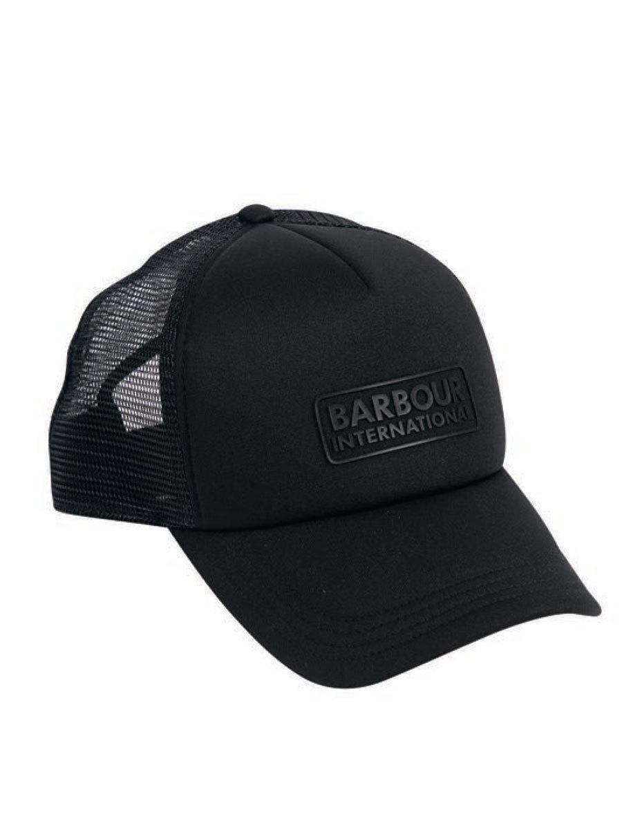 Barbour бейсболка International Heli Trucker Cap Black