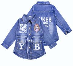 858 куртка джинсовая девочка