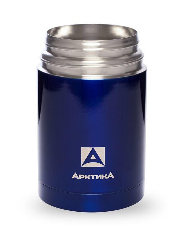 Термос для еды Арктика (0,75 литра) с супер-широким горлом, синий