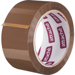 Клейкая лента упаковочная ATTACHE 50мм х 66м 50мкм коричневая