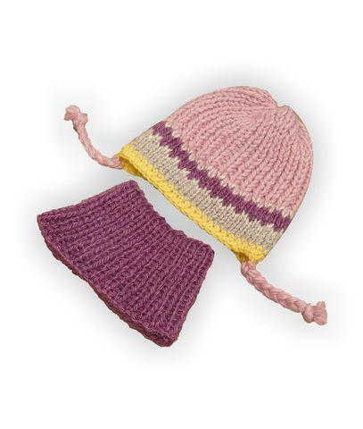 Шапка и шарф - Фиолетовый. Одежда для кукол, пупсов и мягких игрушек.