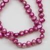 Жемчуг речной ярко-розовый  4-5 мм (крашен.)нить 37-38 см